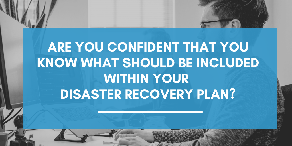 Graphic asking if you are confident whether your business could cope if it was affected by a disaster