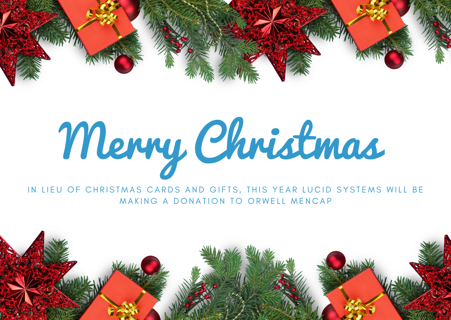 Lucid Systems in Ipswich would like to wish all clients and contacts a very happy Christmas