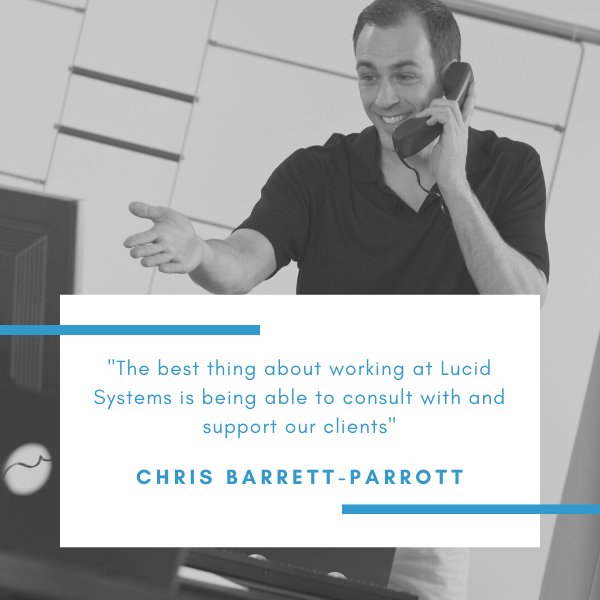 Chris Barrott-Parrott is a support engineer. He helps to answer any queries that our clients have about their IT solutions