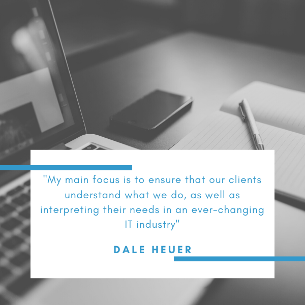 Dale Heuer is a senior engineer at Lucid Systems, specialists in external IT support for businesses throughout the East of England